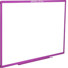 Large Magnetic Dry Erase Board Wall Mounted 24x36. Purple. By Office Style
