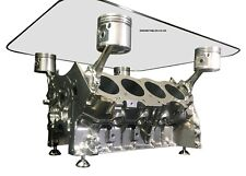 V8 Engine Block Coffee Table - CHROME