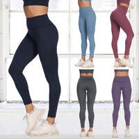 Leggings Fitness Sports Yoga Leggins Jogginghose Lang Hose Slim Fit FITTOO Damen