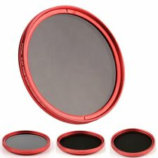 Red Ring Slim FOTGA 82mm Fader Variable Neutral Density ND Filter ND2 to ND400