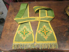ANCIENne etole d aube robe priest stole sacerdote estola cape brode petit point
