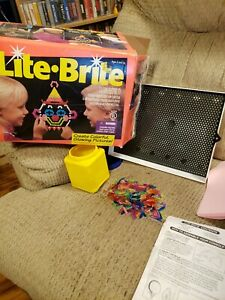 Vintage Milton Bradley LITE BRITE 1993 1994 Tested Works with Box Paper Sheets