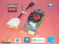 1GB Video Card HP ProDesk  SFF 400, 600 (G1, G2, G3),  Dual DVI