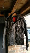 Superdry Brad Leather Jacket - Black - Size Small - Vintage 2007 Original Design