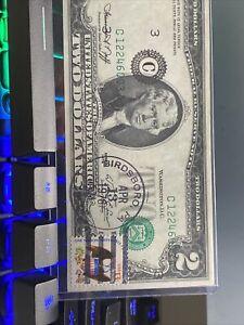 4 Huge error  misaligned  1976 $2 consecutive C  Stamp note Super Top Rare!