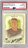 2018 TOPPS ALLEN & GINTER #207 RONALD ACUNA JR. PSA GEM MINT 10 ROOKIE