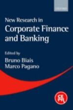 New Research in Corporate Finance and Banking, , Very Good Book