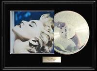 MADONNA TRUE BLUE WHITE GOLD SILVER PLATINUM TONE RECORD VINYL LP RARE NON RIAA