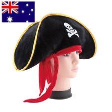Pirate Captain Hat Skull Crossbone Cap Costume Fancy Dress Party Halloween OE