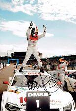 Tom KRISTENSEN SIGNED Le Mans Driver Audi AUTOGRAPH 12x8 Victory Photo AFTAL COA