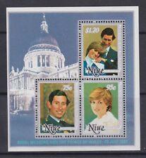1981 Royal Wedding Charles & Diana MNH Stamp Sheet Niue SG MS447