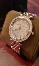98d7add6a9c6 Michael Kors Darci Pave Crystal Accented Rose Gold Tone Watch NEW IN BOX