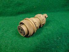 (1) Amphenol 3 Cond MS3106E14S-7S (C) Water Tight Mil Plug  NOS