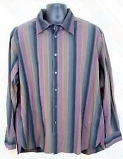 Perry Ellis XXL Mens Cotton L/S Multi-color Stripes      F39