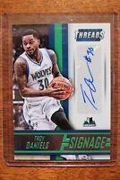 2014-15 Panini Threads Signage 148/199 Troy Daniels Auto #19 Timberwolves
