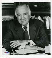 Walter Cronkite Psa Dna Coa Hand Signed 8x10 Photo Original Autograph