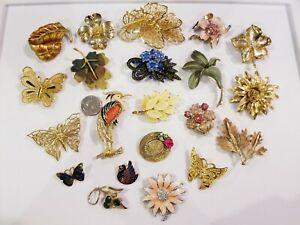 LOVELY Vintage Mod Brooch LOT Judy Lee BSK My Fair Lady Star Art 12kgf Mamselle+
