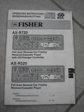 Bedienungsanleitung FISHER für Autoradio AX-R720 und AX-R520
