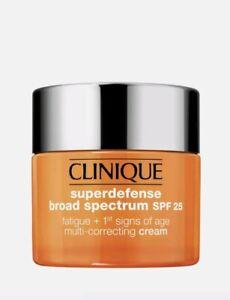 CLINIQUE SUPERDEFENSE Broad Spectrum SPF 25 MULTI CORRECT CREAM 1.7oz 50ml BNIB