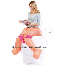 Toilet Inflatable Costume Closestool Inflatable toliet carnival Halloween Adult