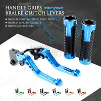 CNC Short Brake Clutch Lever Handle Grips for YAMAHA YZF R6 05-16 YZF-R1 04-08