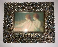 Jay Strongwater Beautiful Multicolor Swarovski crystal picture frame