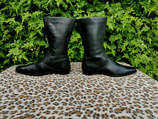Ecco Black Leather Boots UK size 7.5 EU 41