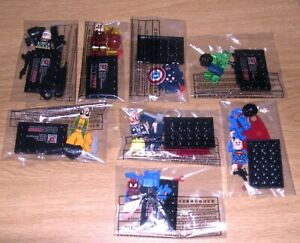 NEW Marvel Avengers Super Heroes 8 Minifigures Building Toy Set Spiderman Batman