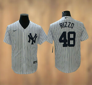 New York Yankees Anthony Rizzo #48 Player White Stitched Jersey Free Shipping
