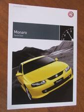 2004 Vauxhall Monaro original UK 12 page brochure