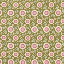 Tilda Fabric. Pardon My Garden. Sunflower in Green. cotton.  By the FQ