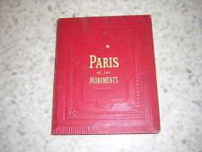 1860.Paris & les monuments.dépliant avec gravures