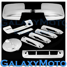 09-17 Dodge Ram Chrome Mirror+4 Door Handle+Tailgate+KH+Gas+3rd Brake Trim Cover