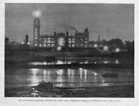 MINNEAPOLIS EXPOSITION BUILDING BY NIGHT, 1887 MINNESOTA HISTORY ARCHITECTURE