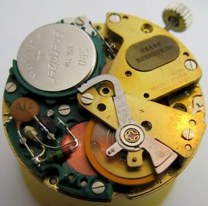 new old stock ESA 9158 day date electric Watch Movement 7 jewels for part ...