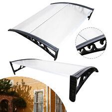 Vordach Tür Haustürvordach Aluminium Türdach Überdachung Alu-Rahmens 100x120CM