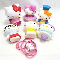 Hello Kitty Toy Lot 6 Figures Necklace Sanrio McDonalds Chef Teacher Top Hinged