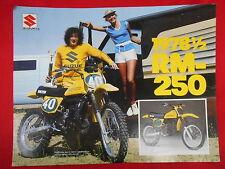 Suzuki Vintage 1978 1/2 RM250 Brochure Specification Original Motorcycle