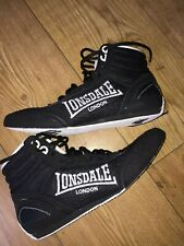 LONSDALE CONTENDER  BOXING BOOTS SIZE 6.5 UK UNISEX LOW  BLACK & WHITE