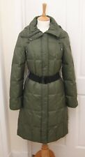 Spice London women's warm green padded quilted down duvet hooded coat parka 10
