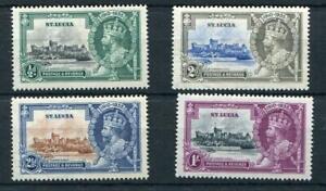 St Lucia 1935 Silver Jubilee set SG109/12 fine MLH