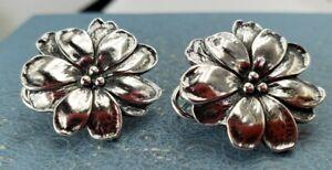 James Avery Retired Flower Earrings Post Omega Backs Classic Subtle Look . 925
