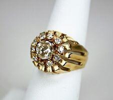 Vintage Womens Mens Ring 14K Yellow Gold 1 Carat Diamond 1.45ctw Diamonds