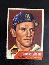 1953 Topps #36  Johnny Groth: VG+