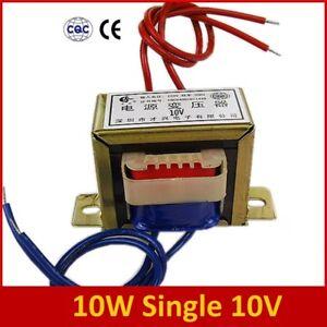 1x 10W Single 10V Power Transformer Input AC 220V 50Hz -Output AC 10V 1.2A