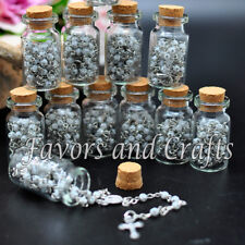12 Glass Rosary Bottles Wedding Rosaries Recuerdos Rosarios Bautizo Comunion