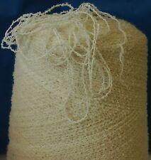 Machine À Tricoter/Filé Main Frisolée Mélange De Coton 1500gr DK Crème IND18.01