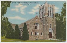 Unused Postcard John E Sell Memorial Chapel Elizabethtown Pennsylvania Pa