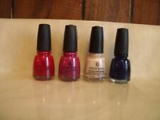 NEW LOT OF 4 CHINA GLAZE NAIL LACQUER    0.5 FL OZ