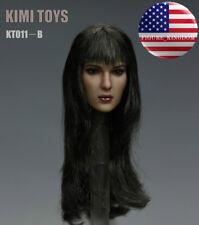 "1/6 Female Head Sculpt KIMI KT011B For 12"" TBLeague PHICEN HotToys Female Figure"